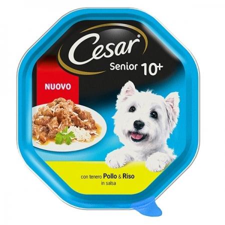 SENIOR 10+ POLLO E RISO IN SALSA Cani