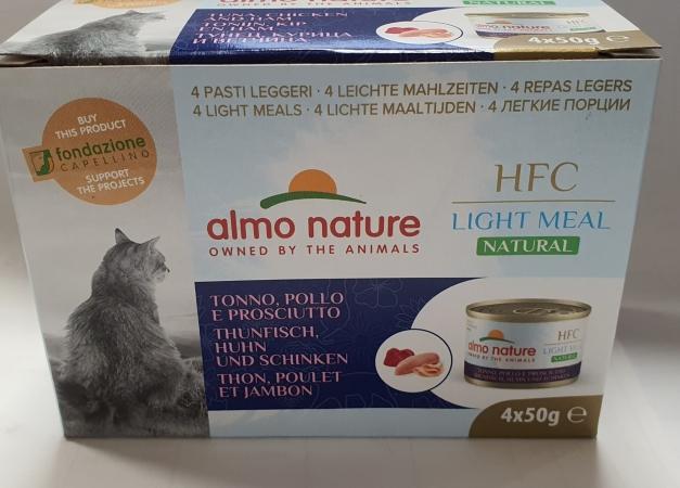 HFC NATURAL LIGHT MEAL CAT TONNO, POLLO E PROSCIUTTO Gatti