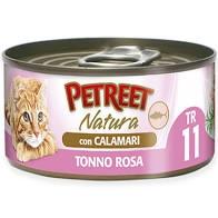PETREET NATURA TONNO ROSA CON CALAMARI Gatti