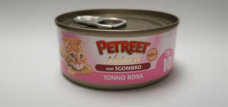 PETREET NATURA TONNO ROSA CON SGOMBRO Gatti