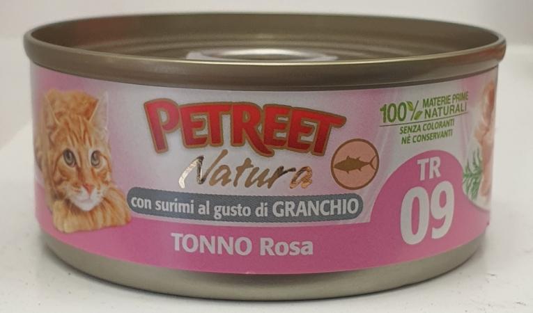 PETREET NATURA TONNO ROSA CON SURIMI DI GRANCHIO Gatti