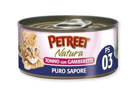 PETREET NATURA PURO SAPORE TONNO CON GAMBERETTI Gatti
