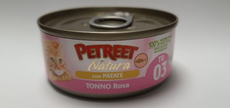 PETREET NATURA TONNO ROSA CON PATATE Gatti