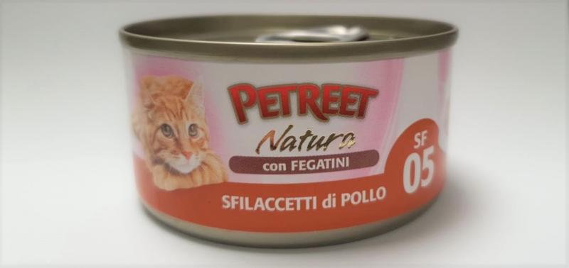 SFILACCETTI DI POLLO CON FEGATINI Gatti