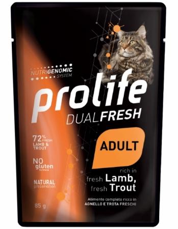 PROLIFE CAT W DUAL FRESH ADULT LAMB & TROUT AGNELLO E TROTA Gatti