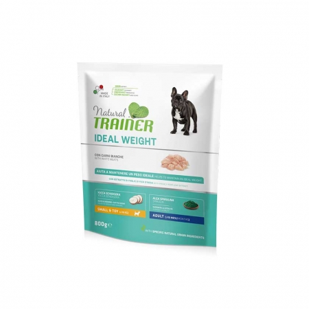 TRAINER  NATURAL IDEAL WEIGHT CARE SMALL & TOY ADULT CON CARNI BIANCHE Cani