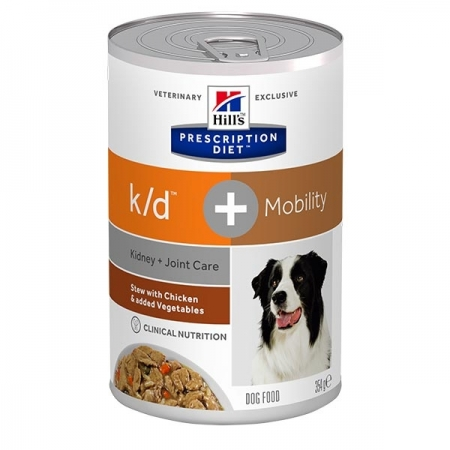 PRESCRIPTION DIET STEW K/D + MOBILITY CON  POLLO E VERDURE Cani