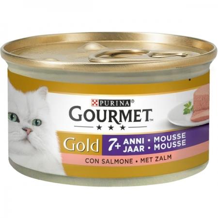 GOURMET GOLD MOUSSE +7 ANNI CON SALMONE Gatti