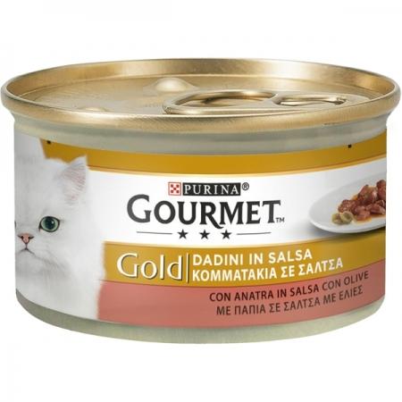 GOURMET GOLD DADINI CON ANATRA IN SALSA CON OLIVE Gatti