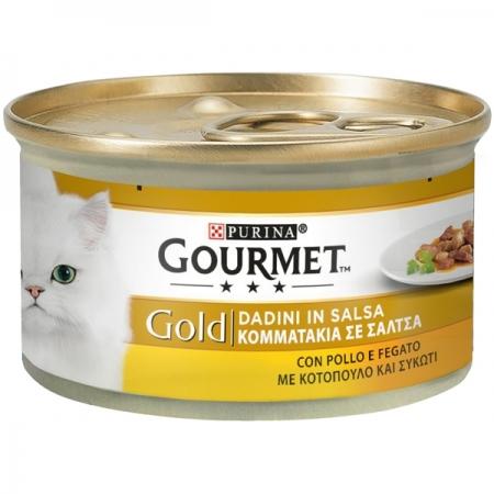 GOURMET GOLD DADINI IN SALSA CON POLLO E FEGATO Gatti