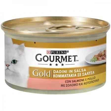 GOURMET GOLD DADINI IN SALSA CON SALMONE E POLLO Gatti