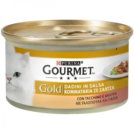 GOURMET GOLD DADINI IN SALSA CON TACCHINO E ANATRA Gatti