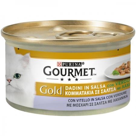 GOURMET GOLD DADINI IN SALSA CON VERDURE, CON VITELLO IN SALSA CON VERDURE Gatti