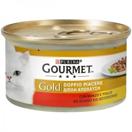 GOURMET GOLD DOPPIO PIACERE CON MANZO E POLLO Gatti