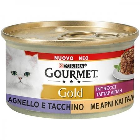 GOURMET GOLD INTRECCI DI GUSTO TACCHINO E AGNELLO Gatti