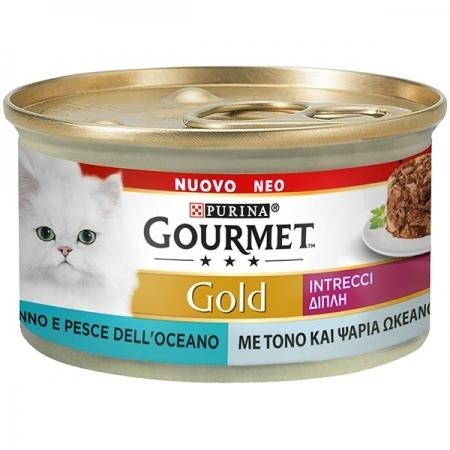 GOURMET GOLD INTRECCI DI GUSTO TONNO E PESCE DELL'OCEANO Gatti