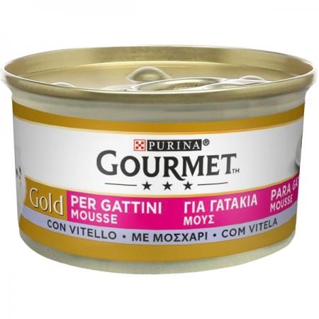 GOURMET GOLD MOUSSE GATTINI CON VITELLO Gatti