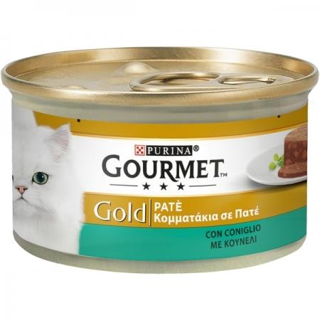 GOURMET GOLD PATÈ CON CONIGLIO Gatti