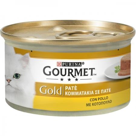 GOURMET GOLD PATÉ CON POLLO Gatti
