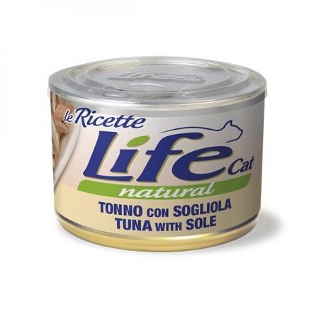 LIFE CAT LE RICETTE TONNO CON SOGLIOLA Gatti