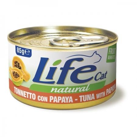 LIFE CAT NATURAL TONNETTO CON PAPAYA Gatti