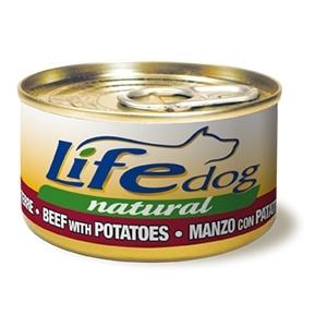 LIFE DOG NATURALE DADINI DI MANZO E PATATE Cani