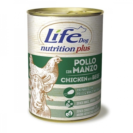 LIFE DOG NUTRITION PLUS MANZO E POLLO Cani